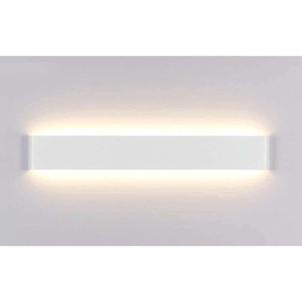 Einfache und moderne, die Beleuchtung der Aluminium LED LED LED Tischleuchte Wandleuchte, lounge Die Schlafzimmer Creative Spiegel vorne Projektor (Farbe  Warmweiß-W-24 W 72 cm). bd3479
