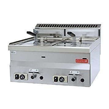 Cocina modular Freidora a gas Gastro-M 8 + 8 litros GL907: Amazon.es: Electrónica