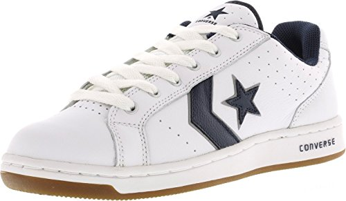 Converse Karve bue bianco / argento Skate Shoes Tg White