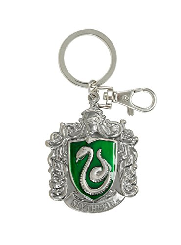 HARRY POTTER Slytherin School Crest Pewter Keychain -