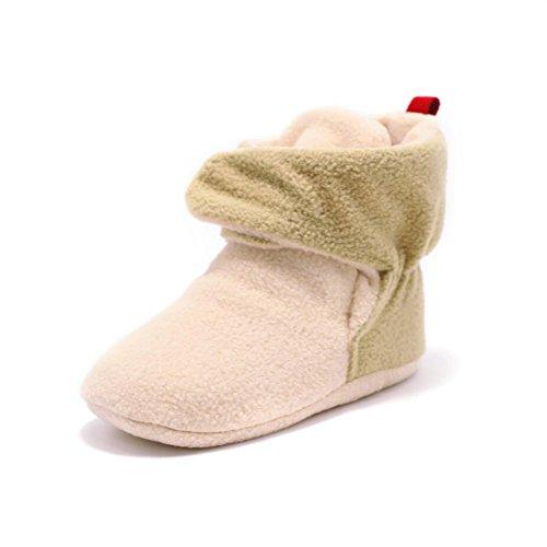 YYF Baby Schuhe Warm Baby Classic Schnee Stiefel PL¨¹SCH Wolle Garn Winter Schuhe Dunkel Khaki
