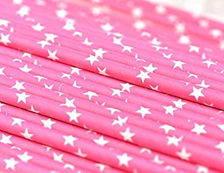 Biodegradable Drinking Straws Graduation Holidays Engagements Birthdays White Stars FiveSeasonStuff Paper Straws Anniversaries Baby Shower Weddings Baby Blue 100 Pcs New Years DIY