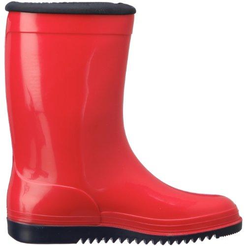 Romika Kadett | PVC Kinder Regenstiefel  | Bunte Unisex-Gummistiefel für Mädchen und Jungen | Schadstofffrei | Gr. 36-42 Rot (rot-marine 401)