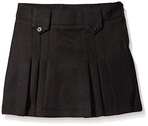 UPC 884503247052, French Toast Big Girls' Front Pleated Skirt with Tabs, Black, 16
