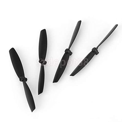 4pcs 60mm Fixed-wing Propellers for Small Racing Drone UAV Quadcopter Black by uptogethertek