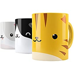 Sticker Set for Kids and Adults - Personalize Your Mug Cup - Cat