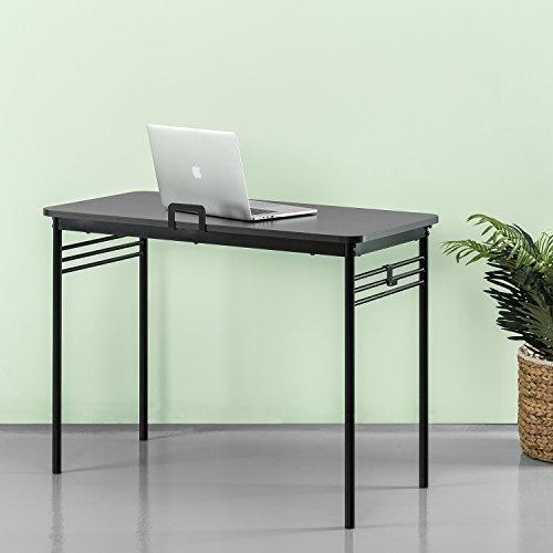 Zinus Retro Metal Framed Desk in Espresso by Zinus