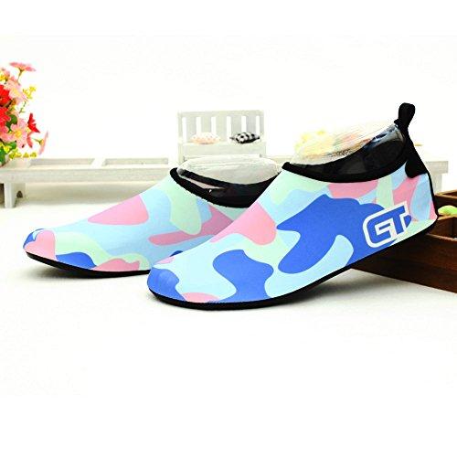 SexRt Männer und Frauen Mutifunctional Wasser Schuhe zum Schwimmen, Pool, Strand Hellblau