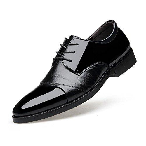 CAI Herren Formale Schuhe 2018 New Business Herren Lederschuhe/Kleid Schuhe/Spitzen Lace up/Hochzeit Schuhe/Office Work Schuhe (Farbe : Schwarz  Größe : 40) Schwarz