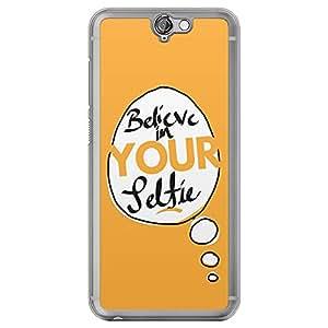 Loud Universe HTC One A9 Believe In Your Selfie Printed Transparent Edge Case - Orange