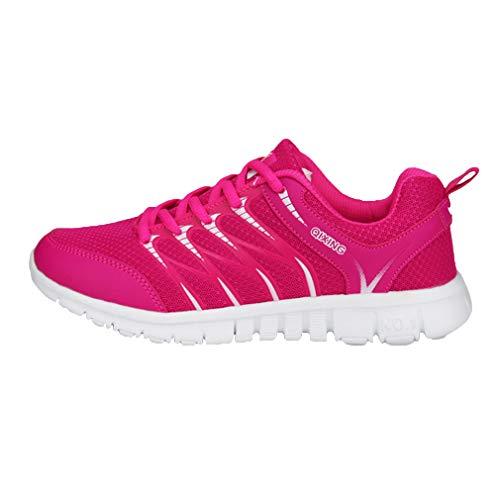 Casuales Unisex Aire Zapatillas Rosa Deportes Libre de Al Running Ligero Moda Zapatos Sneakers Hombres Mujeres Zapatillas Respirable Deportivos Roja PAxFqEw