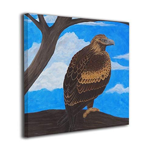 C-Emily Wedge Tailed Eagle Canvas Prints Wall Decor for Bedroom/Living Room Bathroom Framed Ready to Hang