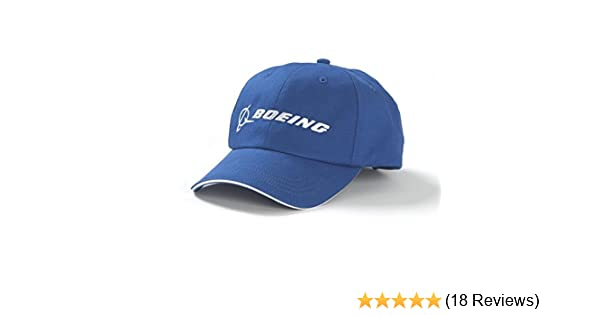 f3e8399453c Amazon.com  Boeing Blue Logo Hat  Sports   Outdoors