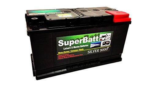 12V 110AH SuperBatt LM110 Deep Cycle Leisure Battery Caravan Motorhome...