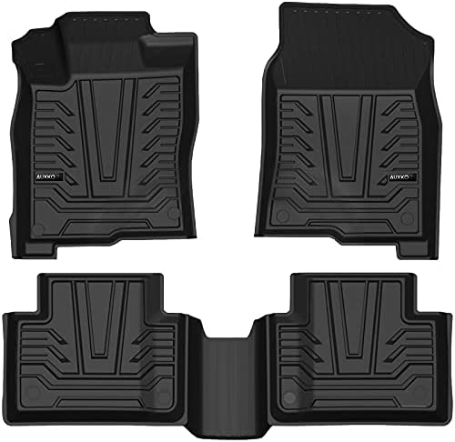 Auxko Floor Mats Liners TPE All-Weather Guard Compatible for 2016-2021 Honda Civic Sedan, Hatchback, Type-R, Sport, Coupe, Heavy Duty 1st & 2nd Row Full Set Liners