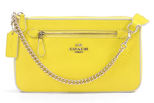 Coach Women's Yellow Chalk Nolita Wristlet 24 Colorblock Leather Wristlet Purse by Coach (Image #2)