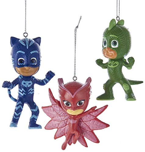 Kurt Adler 3.5-Inch PJ Masks Christmas Ornament Set of 3