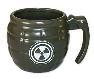 Invotis Grenade Mug IN1422 - Taza en forma de granada, color verde oscuro