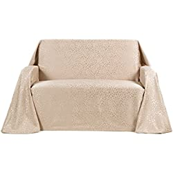 Stylemaster Home Products Stylemaster Rosanna Jacquard Furniture Love Seat Throw, Beach