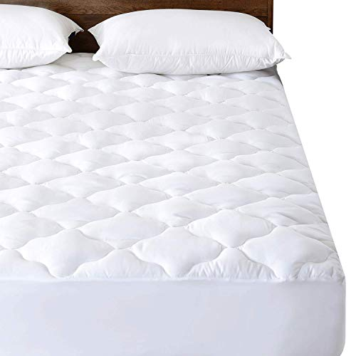 Waterproof Quilted Mattress Pad (Queen) - Hypoallergenic Soft Down Alternative Fill Mattress Protector, 15
