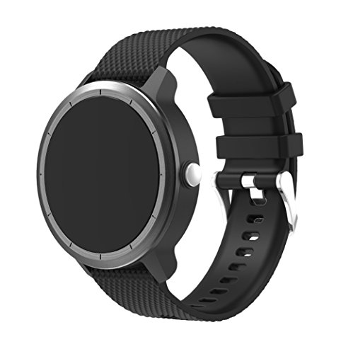 Junboer Vivoactive 3 Band, 20mm Quick Release Breathable Soft Silicone Replacement for Garmin Vivoactive 3/ Garmin Vivomove HR/Ticwatch 2/ Moto 360 2 Mens 42mm/ Samsung Gear S2 Classic Smart Watch