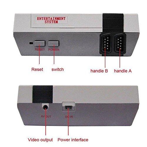 Leoie Mini Retro Classic Game Consoles Built-in 620 Childhood Classic TV Video Games Dual Control 8-Bit Console Handheld Game Player (British regulations) by Leoie (Image #2)