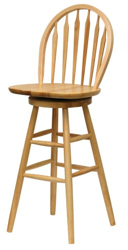 Winsome Wood 30 Inch Windsor Swivel Seat Bar Stool, Natural