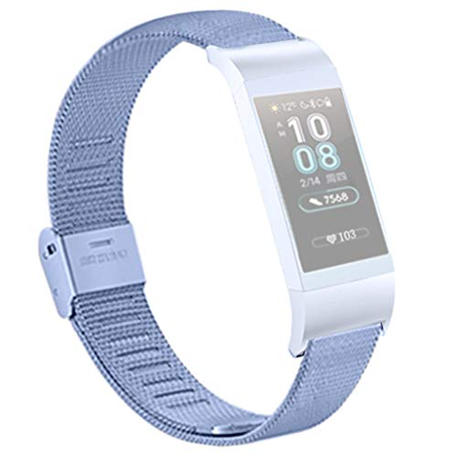 - Wristband Compatible for Huawei 3 / 3PRO Smart Watch,Universal Milanese Mesh Clasp Band Lightweight Breathable Metal Replacement Strap for Huawei 3 / 3PRO Smart Watch (Sky Blue)