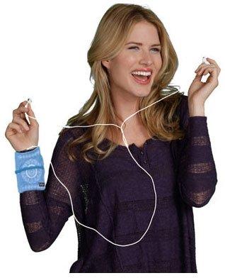 Banjees Phone Wrist Wallet - 2 Pockets Blue Batik