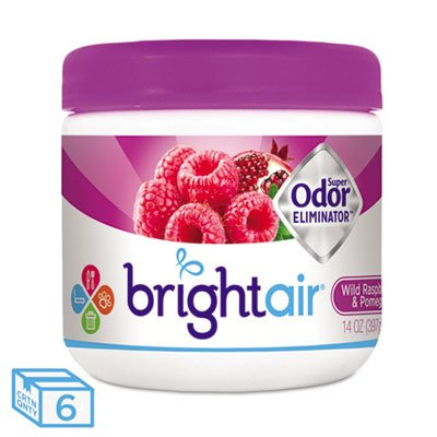 (Super Odor Eliminator, Wild Raspberry & Pomegranate, 14 Oz Jar, 6/carton)