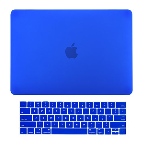 TOP CASE - Rubberized Matte Hard Case + Matching Color Keyboard Cover Compatible with MacBook Pro 15