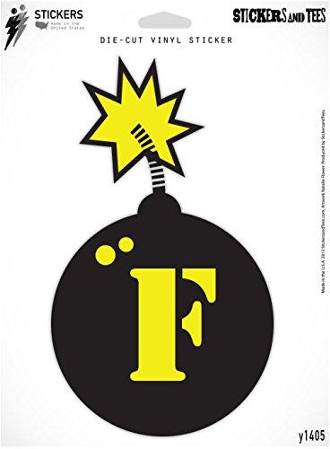 (F Bomb Styling Vinyl Sticker Small Window Bumper Phone Decal 3