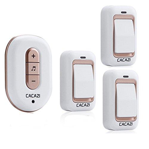 [해외]Waterproof Self-powered Doorbell Door Chime With 3 Transmitters+1 Receiver / Waterproof Self-powered Doorbell Door Chime With 3 Transmitters+1 Receiver