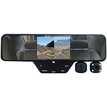 Falcon Zero F360+ HD DVR Dual 1080P 3.5-Inch Color TFT Rear View Mirror LCD Dash Cam with 32GB SD Card