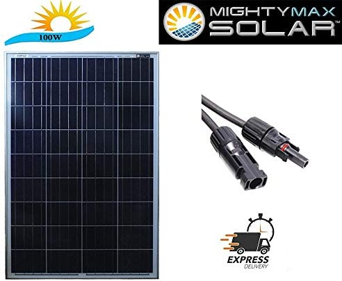 Mighty Max Battery 100 Watt 12 Volt Waterproof Polycrystalline Solar Panel Charger Brand Product
