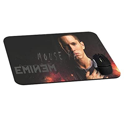 Office Rectangle Mouse Pad with Eminem Fire Image Cloth Cover Non-Slip Rubber Backing-Gaming Mousepad(8.7x7.1x0.12 Inch)