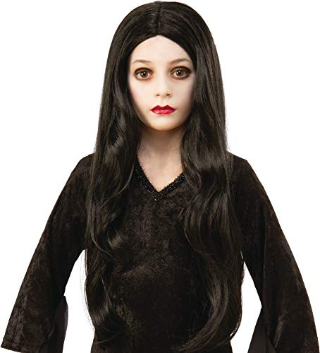 Rubie's Addams Family Animated Movie Child's Morticia Wig, One Size (Girls Kids Wigs)