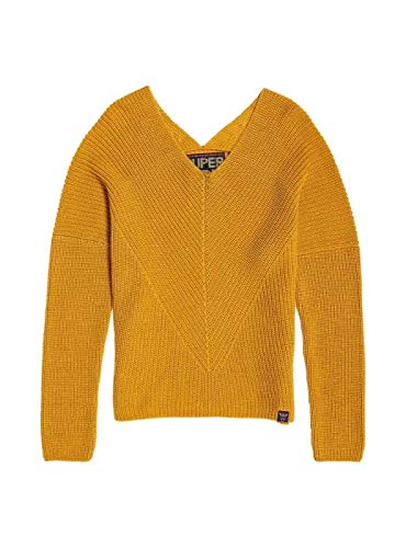Beige Woman Cora Pullover Mustard Superdry n0Z4Swqq