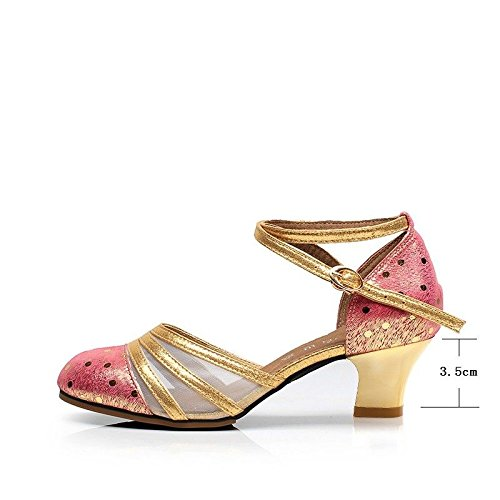Zapatos Cuadrados de de Mujeres Latino Femenino Red salón con Cuero Rose de de de Cuero Mujer de de Baile Zapatos Zapatos Suave Wxmddn Baile Baile de Zapatos vxTZqtwY