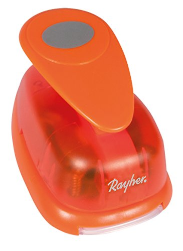 Rayher Oval Motive Puncher for Paper upto 200 g/m sq, Orange, 8 cm Wide, 3-Inch (Label 200 3')