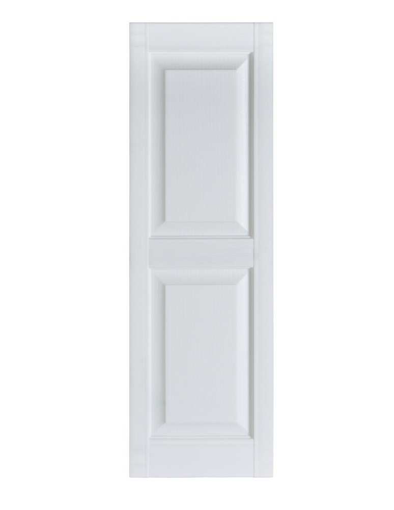 Perfect Shutters Premier Raised Panel Exterior Decorative Shutter, 15'' x 63'', Paintable by Perfect Shutters