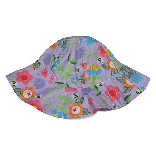 ABG Toddler Girls Purple Floral Sun Hat Floppy Bumblebee Bucket Cap (Toddler Bumble Bee Cap)