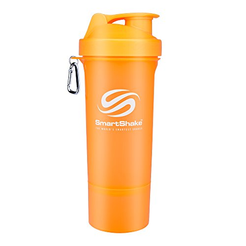 SmartShake Slim Shaker Cup, 17-Ounce, Neon Orange