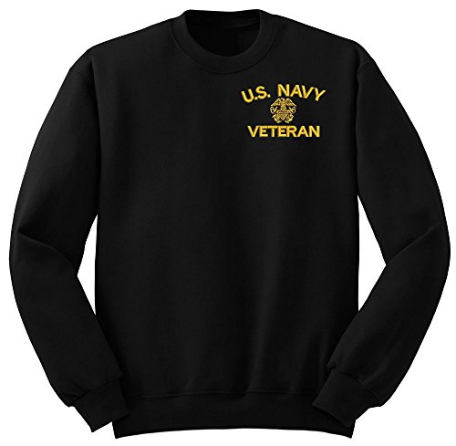 (NAVY U.S. Navy Veteran Military Crew Neck Sweatshirt XX-large)