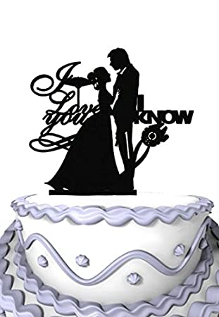 Amazon meijiafei wedding cake topper i love you i know meijiafei wedding cake topper i love you i know bride and groom silhouette junglespirit Image collections