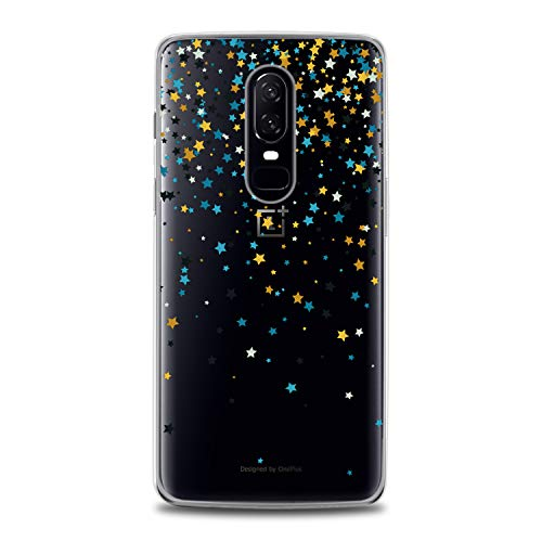 Lex Altern TPU Case for OnePlus 7 Pro 6T 6 2019 5T 5 2017 One+ 3 1+ Gentle Stars Gift Clear Tender Soft Colored Slim fit Starfall Print Galaxy Flexible Lightweight Smooth Space Cover Design Awesome -