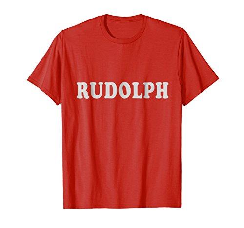 Mens Halloween Group Costume T Shirt Santa Reindeer Rudolph Tee Small Red