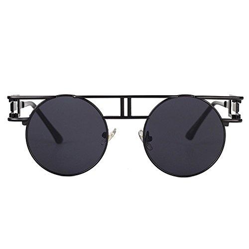aire Gris Hombre al Reflectoras Steampunk Gafas Gris de Sunglasses Libre sol góticas Marco Lente FqAwY6P