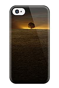 IPlrFsH1877ITxpb Case Cover, Fashionable Iphone 4/4s Case - Last Sign Hill Tree Night Sunset Trace Nature Other