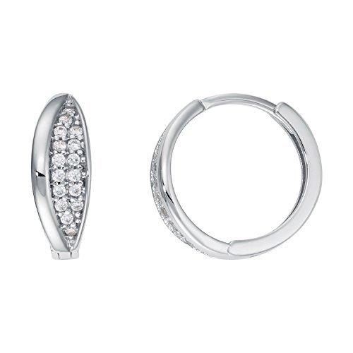 Créoles Or Boucles d'oreilles Femme-3338CT or blanc diamètre: 14,50mm neuf (160112)